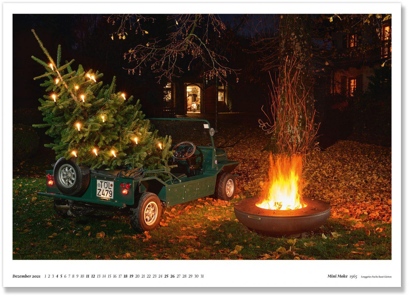 Mini Moke 1965 Lenggries Fuchs baut Gärten