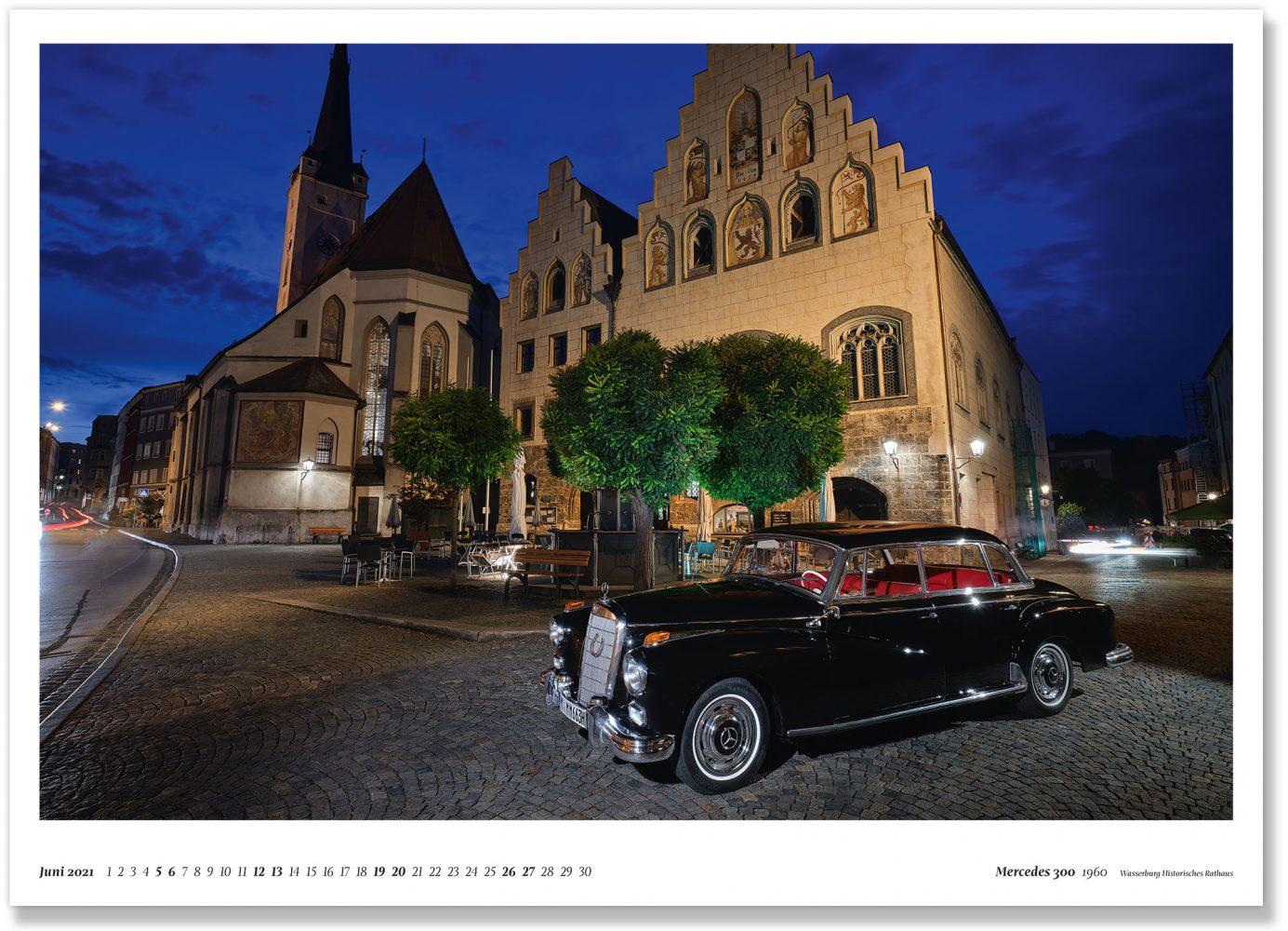 Mercedes 300 d 1960 Wasserburg Historisches Rathaus