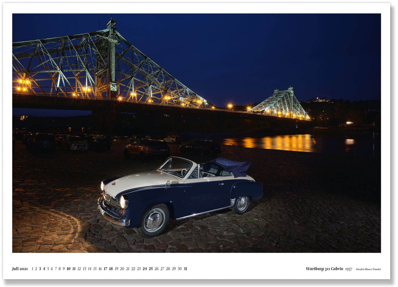 Wartburg 311 Cabrio 1957 Dresden Blaues Wunder
